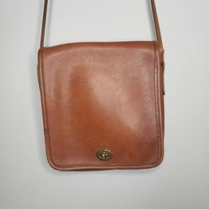Coach Bags - Vintage Coach Brown Leather Crossbody Bag